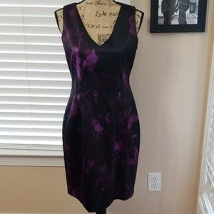 NWOT Tahari  purple/black dress size 6